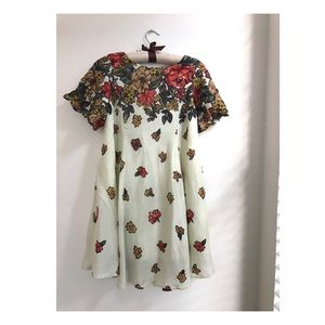 Urban Outfitters floral swing dress + keyhole back